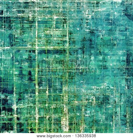 Old school background or texture with vintage style grunge elements and different color patterns: gray; green; blue; cyan; white