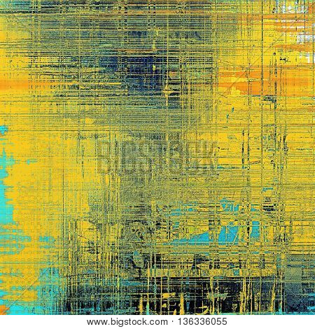 Art grunge background, vintage style textured frame. With different color patterns: yellow (beige); blue; red (orange); black; cyan