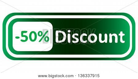 Long icon at a discount and percent