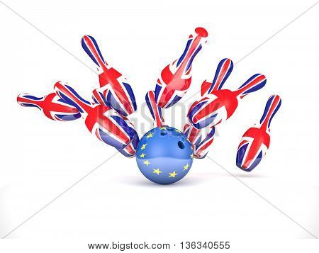 uk spin and europe flag ball