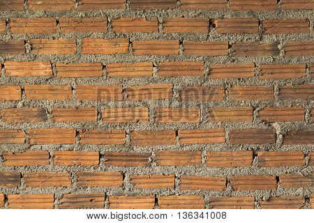 Red brick wall background texture. vintage, construction, masonry