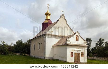 Old medieval orthodox church of St. Paraskevi (17th century Samchyky Ukraine)