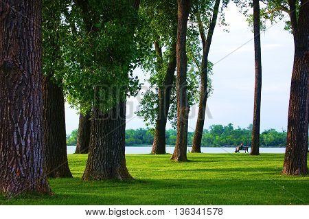 Park next to lake in southwest Iowa