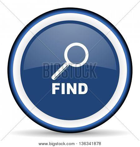 find round glossy icon, modern design web element