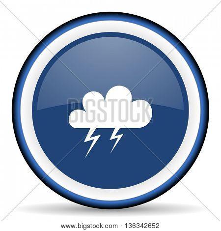 storm round glossy icon, modern design web element