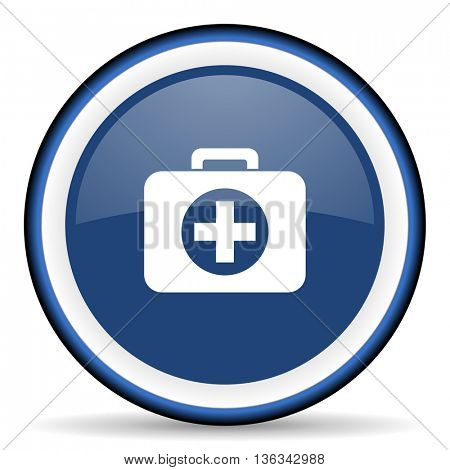 first aid round glossy icon, modern design web element