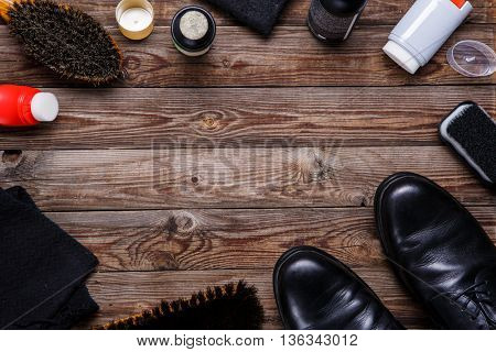 Brushes, wax, shoes, accessories