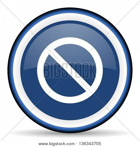 access denied round glossy icon, modern design web element