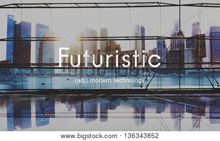 Futuristic Future Technology Creative Development Concept