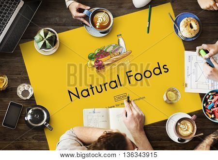 Natural Foods Fresh Healthy Ecological Nutrition Concept