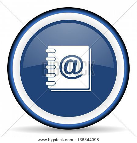 address book round glossy icon, modern design web element