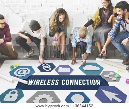 Wireless Connection Connection Networking Concept