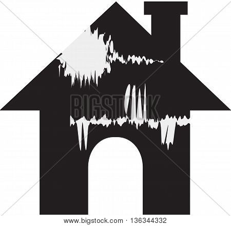 house damaged broken fracture breaking residential vector