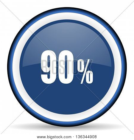 90 percent round glossy icon, modern design web element