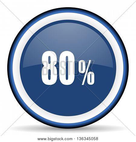 80 percent round glossy icon, modern design web element