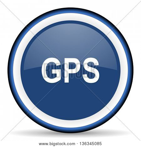 gps round glossy icon, modern design web element