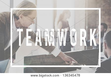 Team up Motivation Motivate Teamwork Motivate Concept