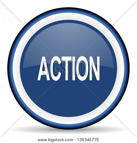 action round glossy icon, modern design web element