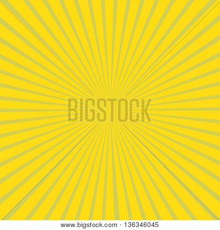 Yellow vector background of radial lines halftone pattern