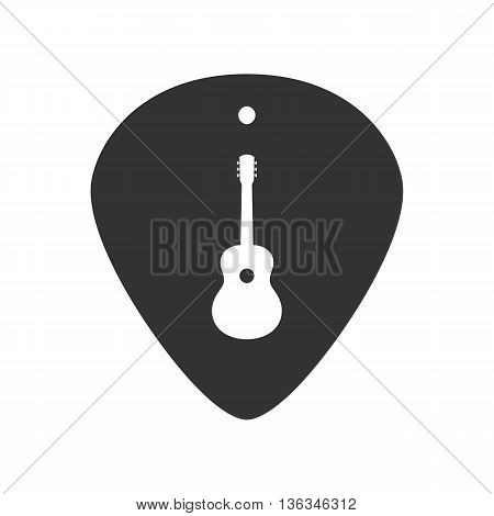 Guitar plectrum icon with the Guitar symbol sign logo