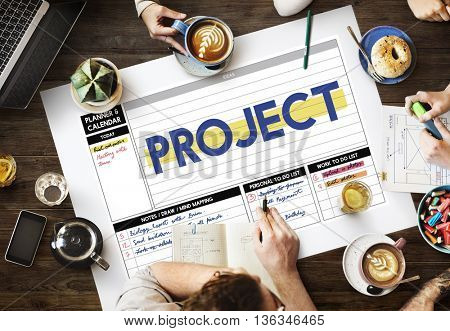 Project Forecast Predict Task Strategy Job Plan Concept