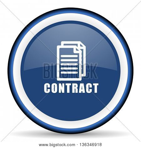 contract round glossy icon, modern design web element