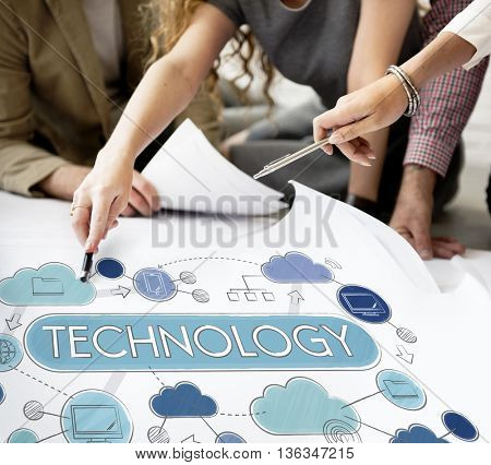 Technology Global Communication Connection Globalization Concept