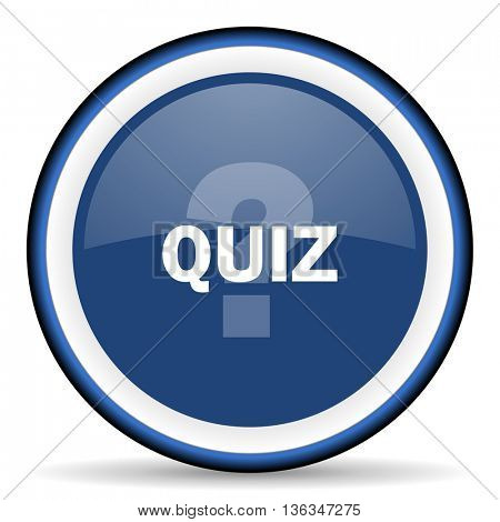 quiz round glossy icon, modern design web element