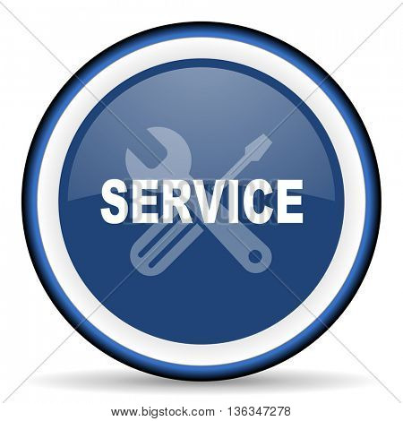 service round glossy icon, modern design web element