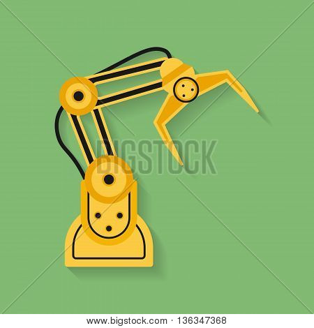 Icon of Industrial manipulator or mechanical robot arm. Flat style