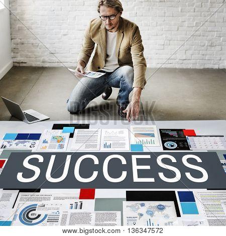 Success Achievement Excellent Growth Victory Concept