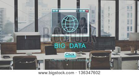 Big Data Browsing Database Technology Concept