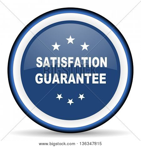satisfaction guarantee round glossy icon, modern design web element