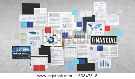 Financial Accounting Economy Planning Concept