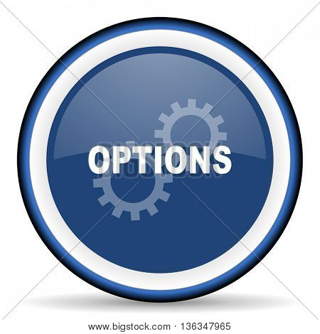options round glossy icon, modern design web element