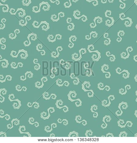 Seamless pattern from doodled or hand made spiral element