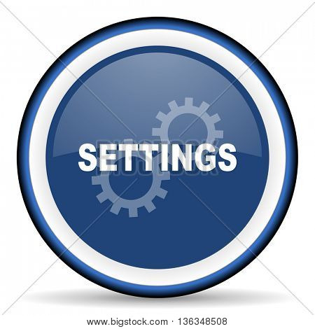 settings round glossy icon, modern design web element