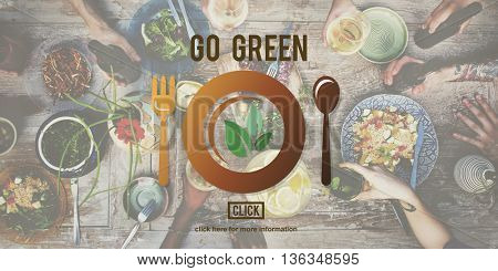 Go Green Eat Diet Vegetables Vegetarian Website Concept