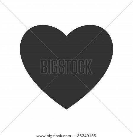 Heart shaped black symbol icon. Vector illustration