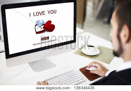 I Love You Engagement Ring Concept