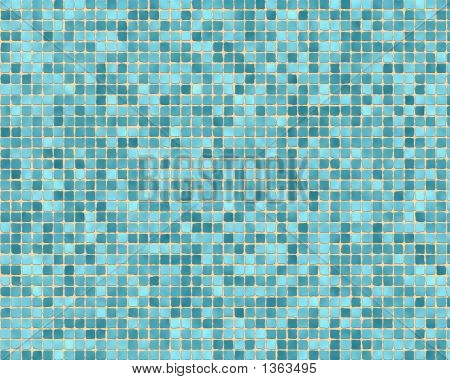 Rough Blue Tile Background