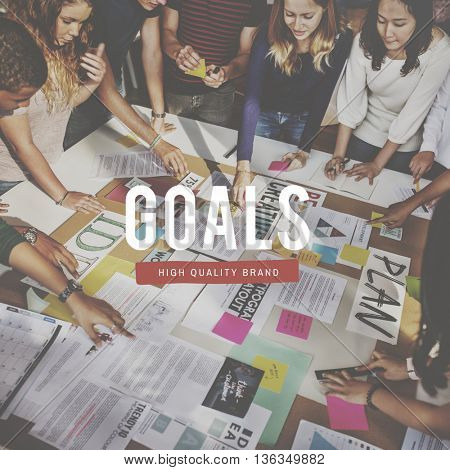Goals Business Creative Ideas People Graphic Concept