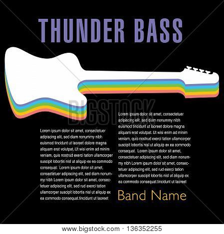 Thunder Bass colorful artwork for your next music project