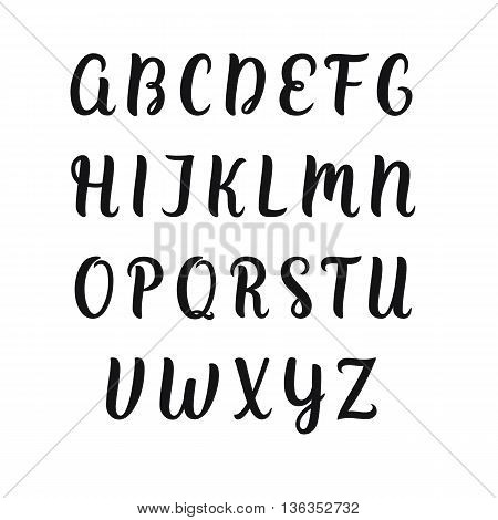 Hand drawn vector alphabet. Decorative isolated letters set.