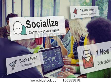 Socialize Community Society Relationship Socialization Concept