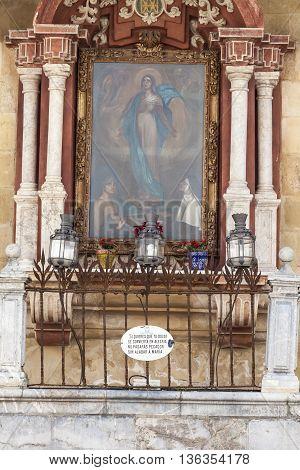 CORDOBA - SPAIN - JUNE 10 2016 :Traditional architetcture in Cordoba Spain.