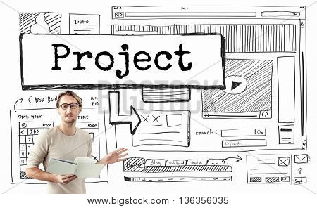 Project Idea Website Scheme Plan Concept