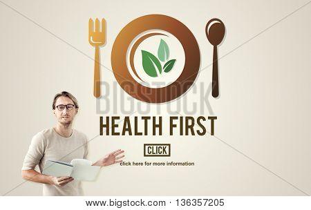 Health First Nutrition Active Diet Wellness Concept