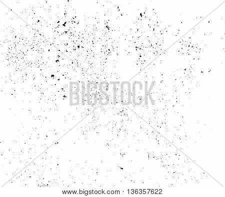 Abstract grunge background. Distress Overlay Texture. Dirty, rough backdrop. Stained, damaged effect. Vector illustration with spots and splatters