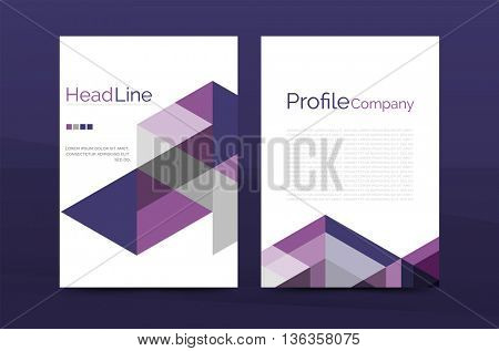 Color business brochure cover vector template, annual report front page, A4 size, leaflet abstract background, magazine design, flyer layout